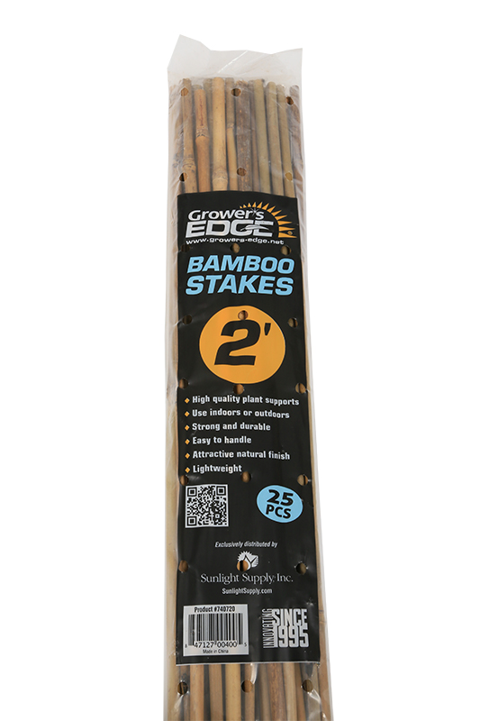 Grower's Edge Natural Bamboo Stakes, 2'