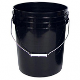 Black Plastic Bucket 5 Gallon